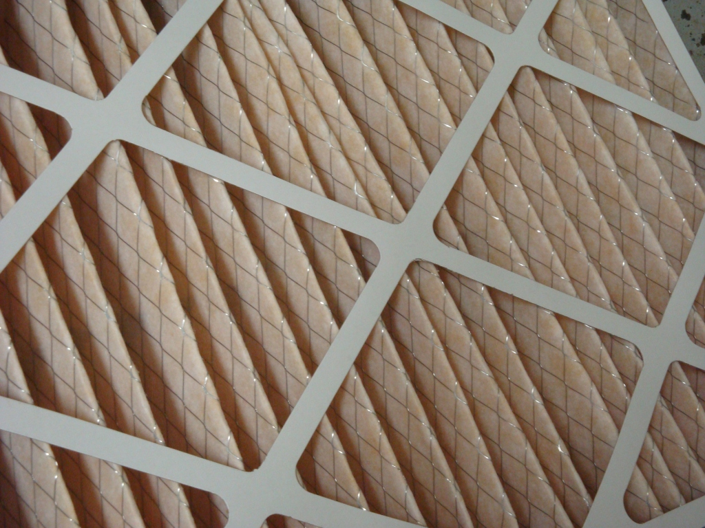 Close-Up of a Furnace Filter